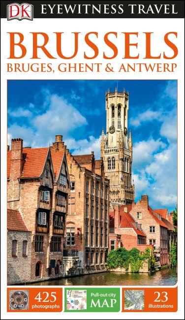 Flexibound cover of DK Eyewitness Travel Guide Brussels, Bruges, Ghent and Antwerp