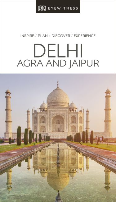 Paperback cover of DK Eyewitness Travel Guide Delhi, Agra and Jaipur