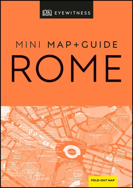 Paperback cover of DK Eyewitness Rome Mini Map and Guide