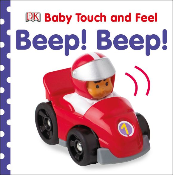 Board book cover of Baby Touch and Feel Beep! Beep!