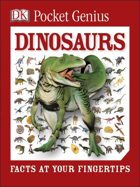 Paperback cover of Pocket Genius: Dinosaurs