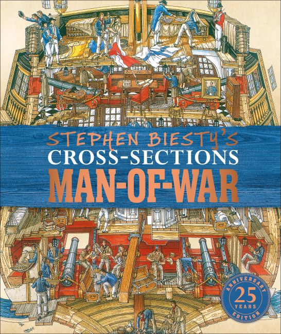 Hardback cover of Stephen Biesty's Cross-Sections Man-of-War