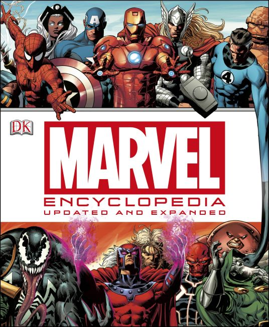 Hardback cover of Marvel Encyclopedia (updated edition)