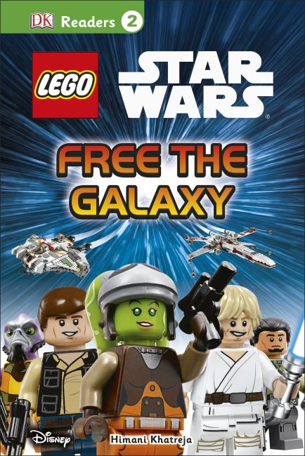 Hardback cover of DK Readers L2: LEGO Star Wars: Free the Galaxy