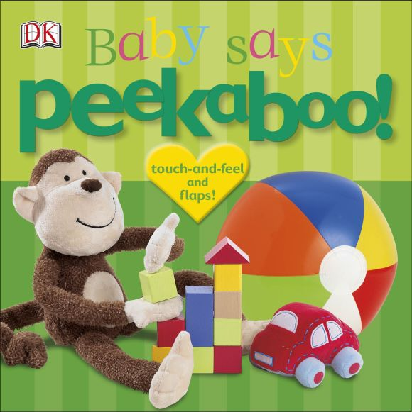 Board book cover of Peekaboo! Baby Says