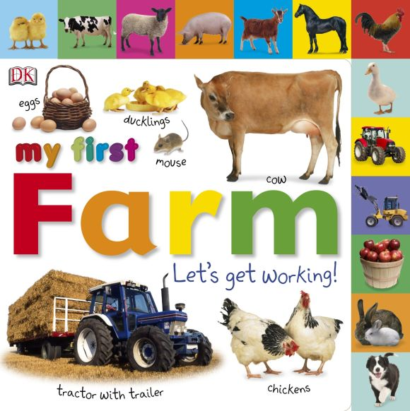Board book cover of My First Farm Let's Get Working