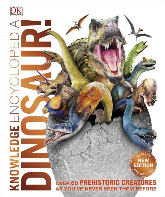 Hardback cover of Knowledge Encyclopedia Dinosaur!