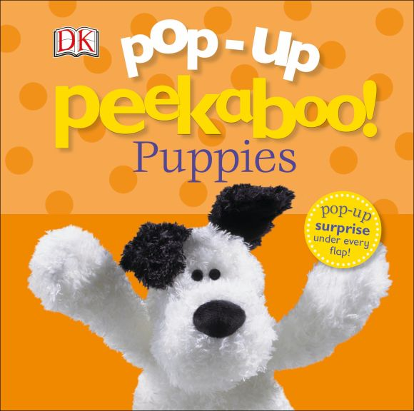 Board book cover of Pop-Up Peekaboo! Puppies