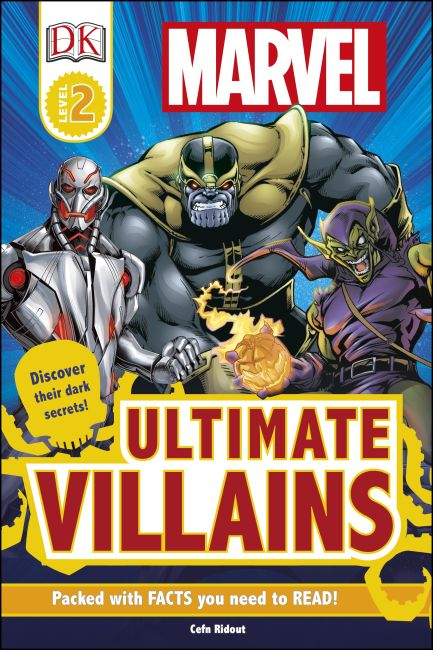 Hardback cover of DK Readers L2: Marvel's Ultimate Villains