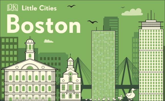 Board book cover of Little Cities: Boston