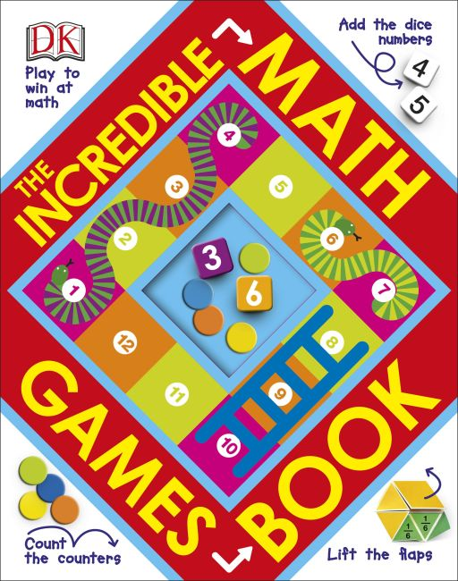 Hardback cover of The Incredible Math Games Book