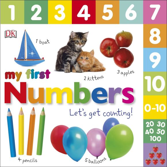 Board book cover of My First Numbers Let's Get Counting