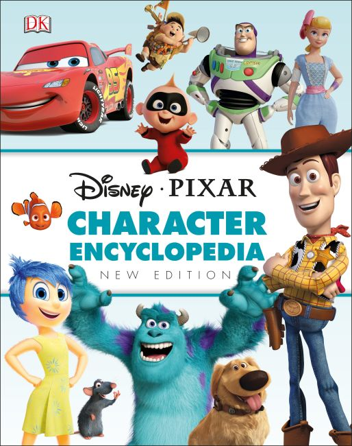 Hardback cover of Disney Pixar Character Encyclopedia New Edition