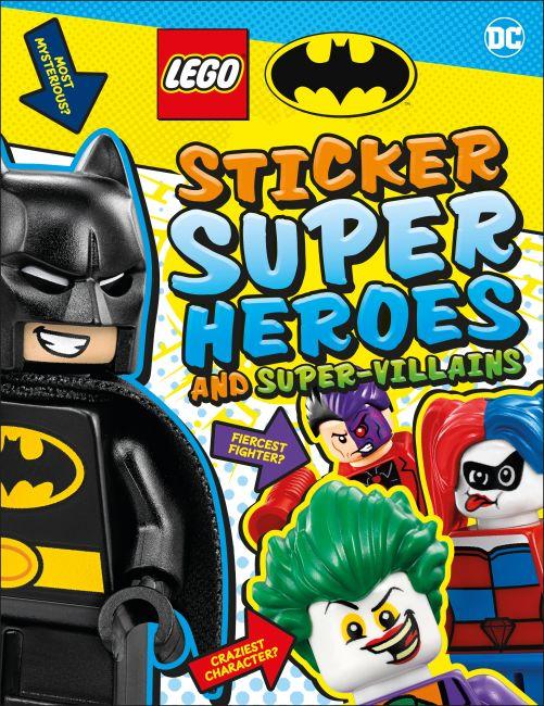 Paperback cover of LEGO Batman Sticker Super Heroes and Super-Villains