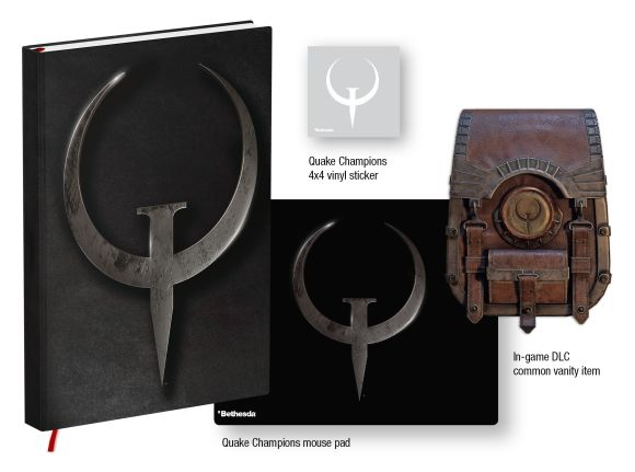 Hardback cover of Quake Champions Player's Journal