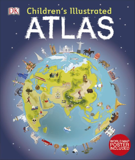 Hardback cover of Children's Illustrated Atlas