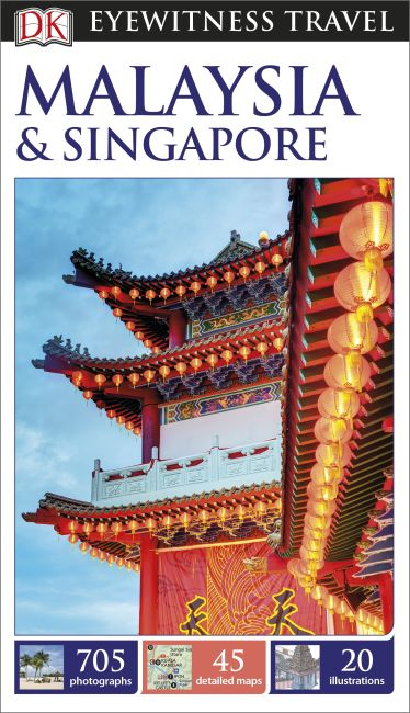 Flexibound cover of DK Eyewitness Travel Guide Malaysia and Singapore