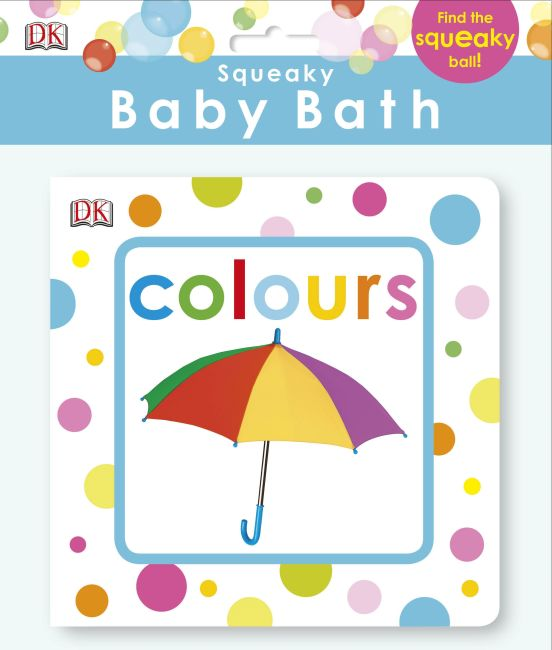 Bath book cover of Squeaky Baby Bath Book Colours