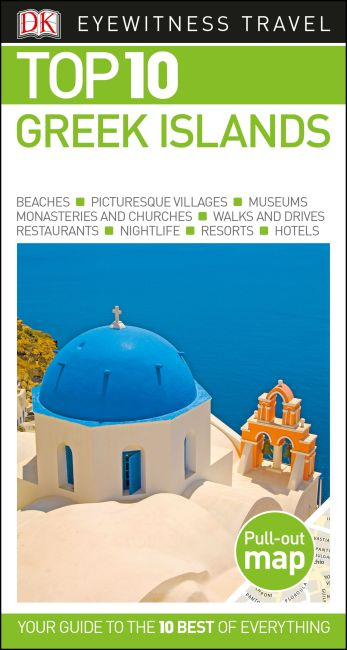 Paperback cover of DK Eyewitness Top 10 Greek Islands