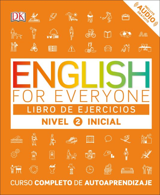 Paperback cover of English for Everyone: Nivel 2: Inicial, Libro de Ejercicios