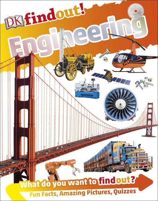 Paperback cover of DKfindout! Engineering