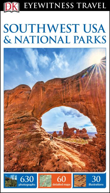 Paperback cover of DK Eyewitness Travel Guide Southwest USA and National Parks