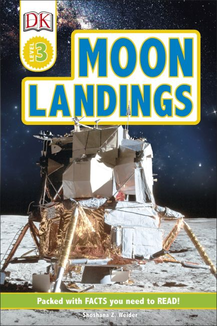 Hardback cover of Moon Landings