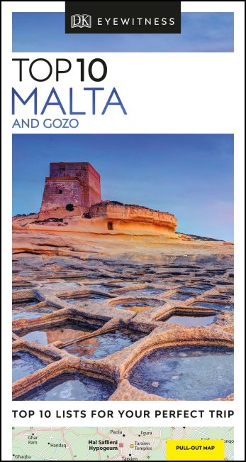 Paperback cover of DK Eyewitness Top 10 Malta and Gozo