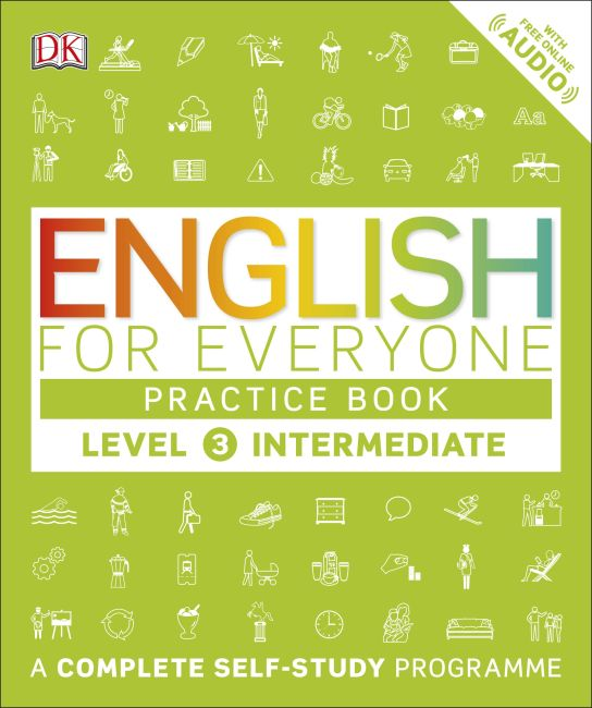 Paperback cover of English for Everyone Practice Book Level 3 Intermediate
