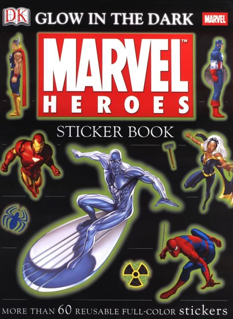 Paperback cover of Ultimate Sticker Book: Glow in the Dark: Marvel Heroes