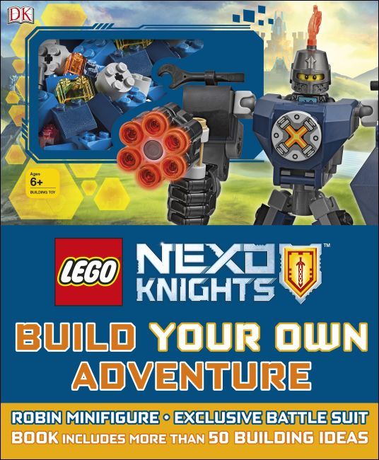 Hardback cover of LEGO NEXO KNIGHTS Build Your Own Adventure