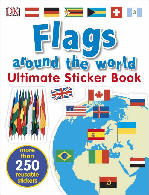 Paperback cover of Ultimate Sticker Book: Flags Around the World