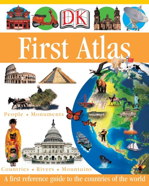 Hardback cover of DK First Atlas