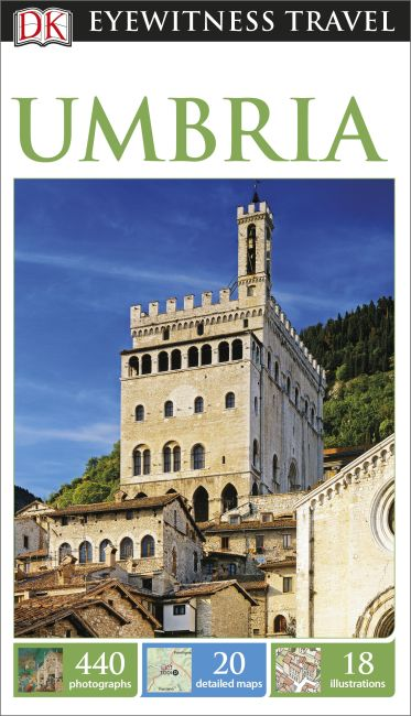 Paperback cover of DK Eyewitness Travel Guide Umbria