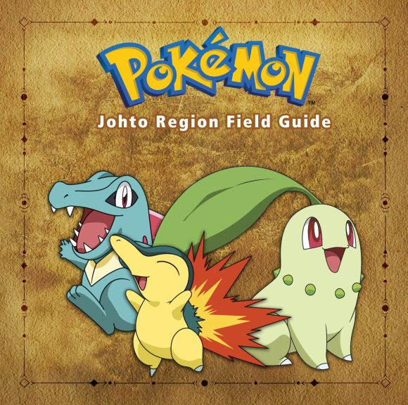 Hardback cover of Pokémon Johto Region Field Guide