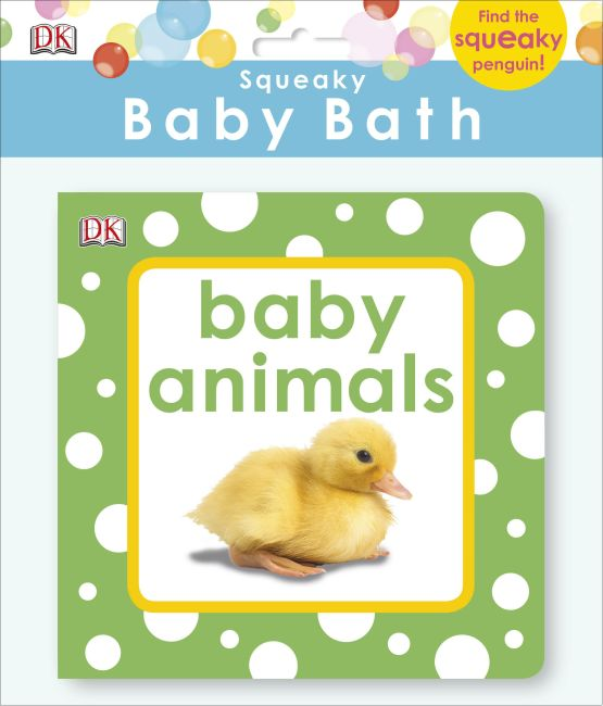 Bath book cover of Squeaky Baby Bath: Baby Animals