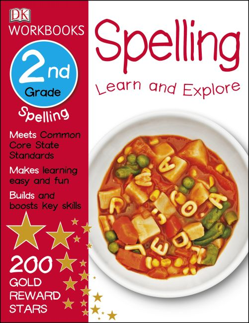 Paperback cover of DK Workbooks: Spelling, Second Grade