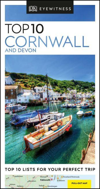 Paperback cover of DK Eyewitness Top 10 Cornwall and Devon