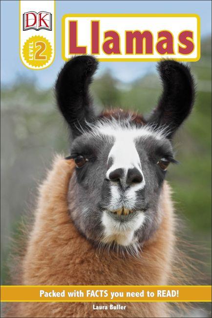 Hardback cover of DK Readers Level 2: Llamas