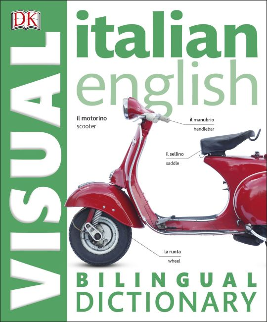 eBook cover of Italian English Bilingual Visual Dictionary