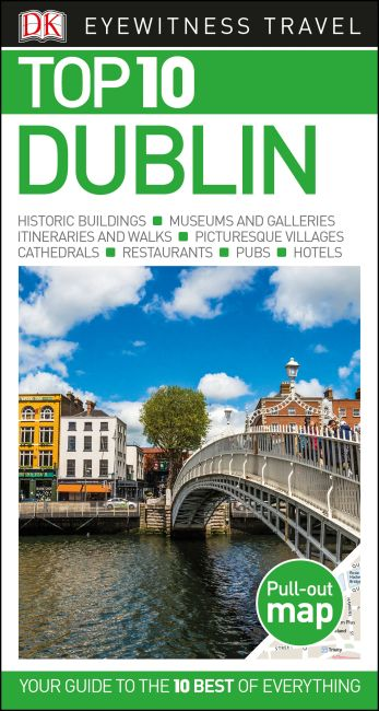 Paperback cover of DK Eyewitness Top 10 Dublin