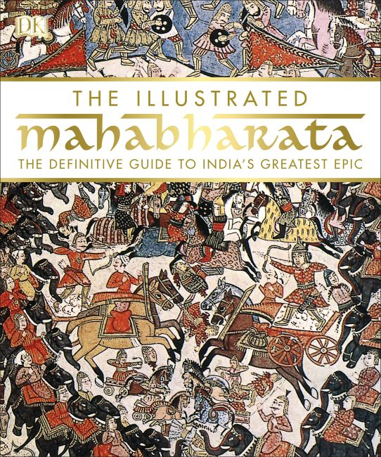 Hardback cover of The Illustrated Mahabharata