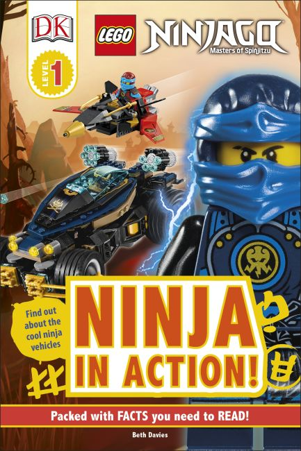 Hardback cover of DK Readers L1: LEGO NINJAGO: Ninja in Action