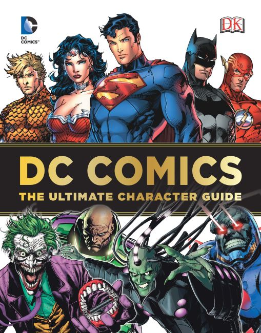 Hardback cover of DC Comics Ultimate Character Guide