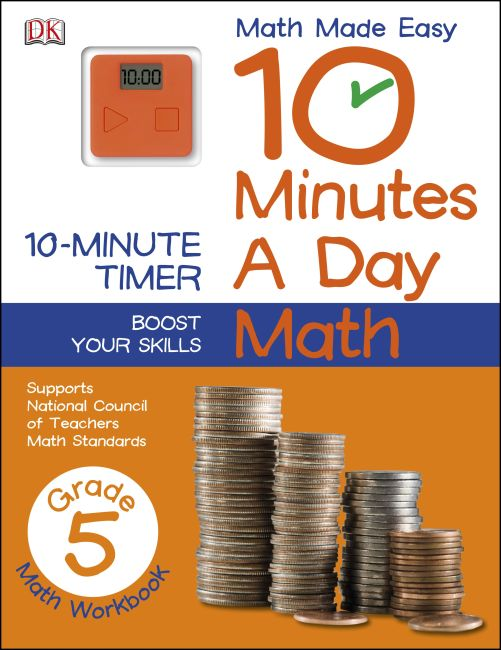 Paperback cover of 10 Minutes a Day: Math, Fifth Grade