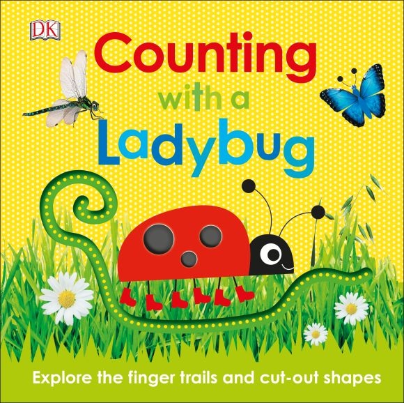 Board book cover of Counting with a Ladybug