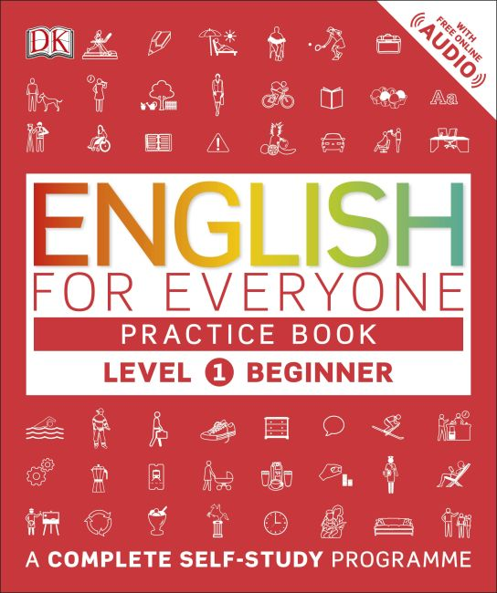Paperback cover of English for Everyone Practice Book Level 1 Beginner