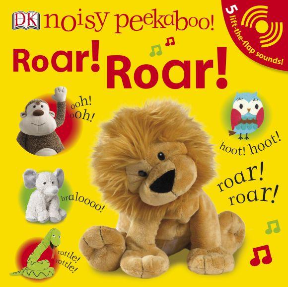 Board book cover of Noisy Peekaboo: Roar! Roar!