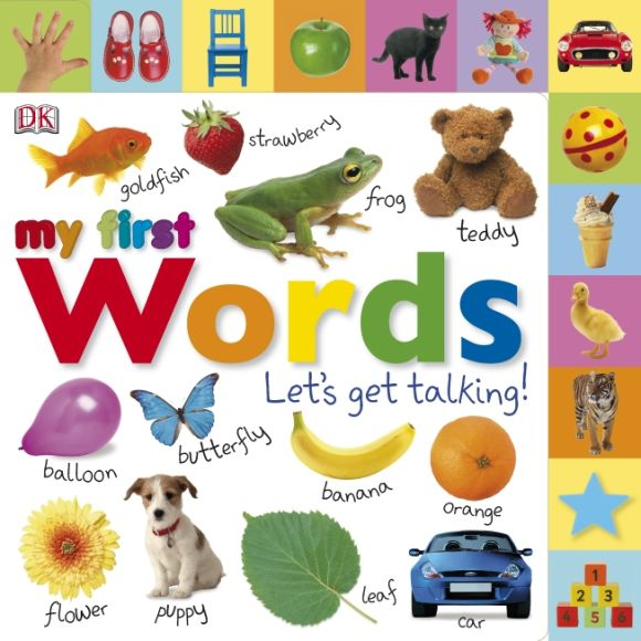 Board book cover of My First Words Let's Get Talking