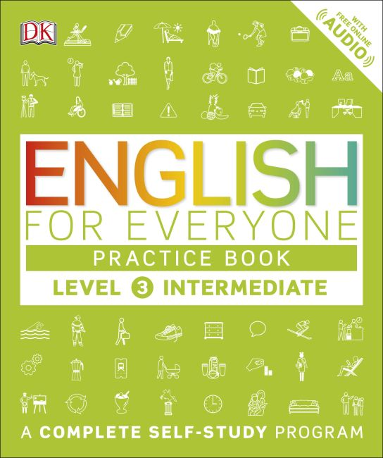 Paperback cover of English for Everyone: Level 3: Intermediate, Practice Book